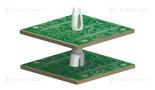 Wspornik PCB montowany oddolnie