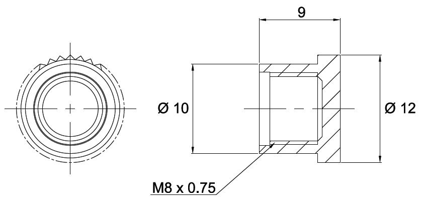 fc adapter dust cap efa02