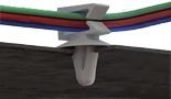 Uchwyty wciskane boczne do kabli i rur
