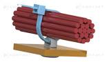 Uchwyt do opaski kablowej wciskany w otwór