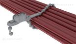 opaska kablowa perełkowa z mocowaniem