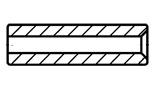 Tulejki dystansowe z wcięciem pod łeb śruby