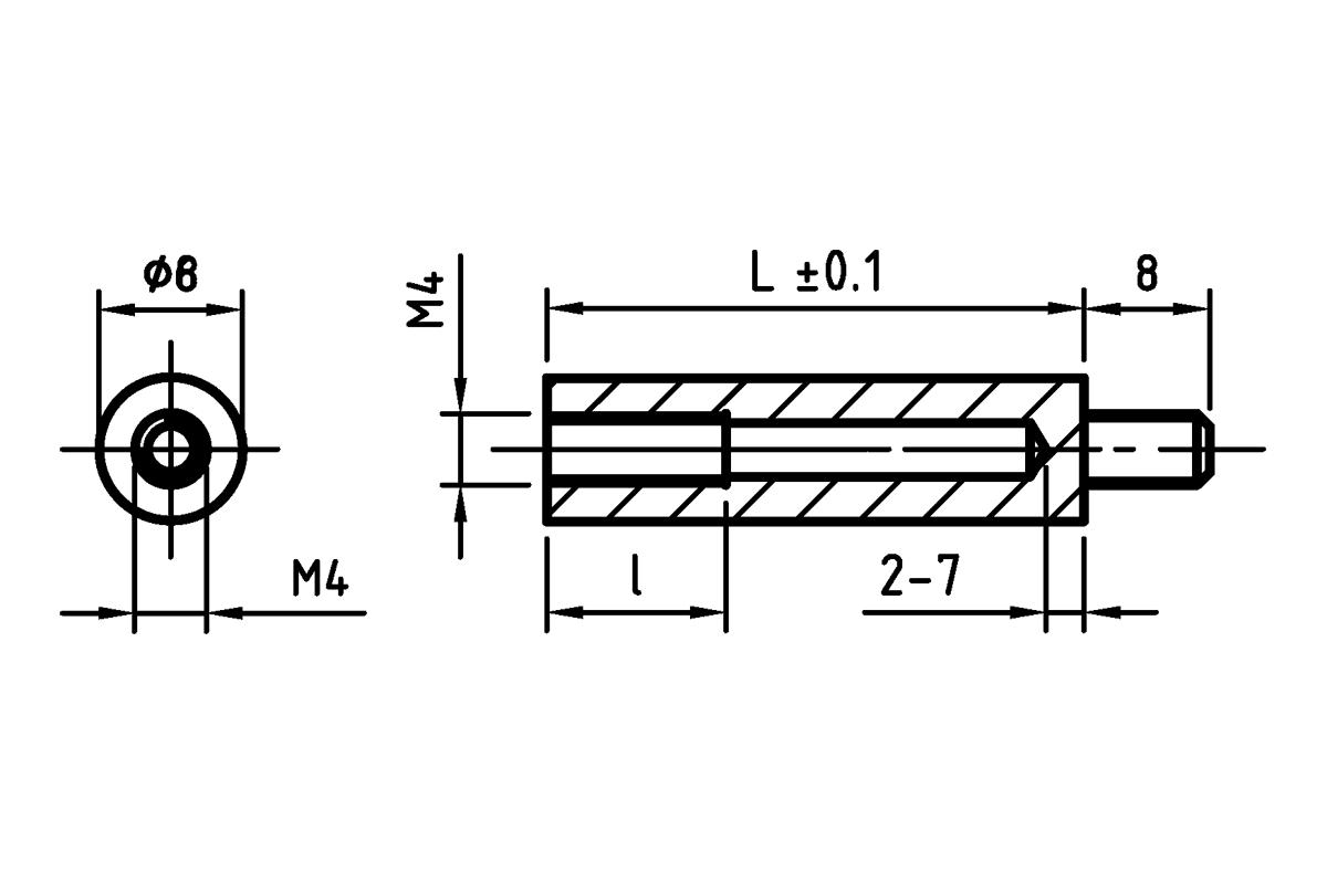 Round Spacers With M4 Thread L Tr7 Wiring Diagram Tulejka Izolacyjna Okrga Z Gwintem