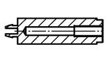 Tulejka dystansowa nylonowa wciskana w otwór prostokątny